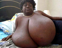 Thick black woman with huge round..