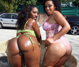 Lucky fucker fuck two ebony hotties..