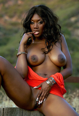 Naughty ebony supper star Nyomi Nyomi..