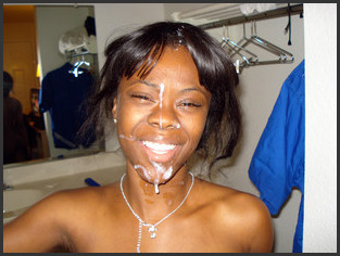 cum Homemade facial girl black