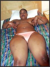 black slut topless on the bed, i love