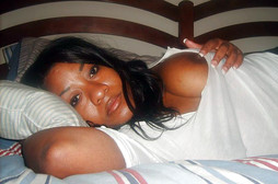 Busty ebony wife makes homemade erotic..