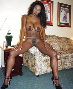 Busty ebony housewife with the fake..